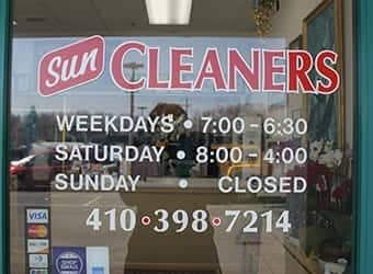 Sun Cleaners open hours
